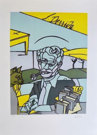Литография Adami - Portrait de Jacques Derrida