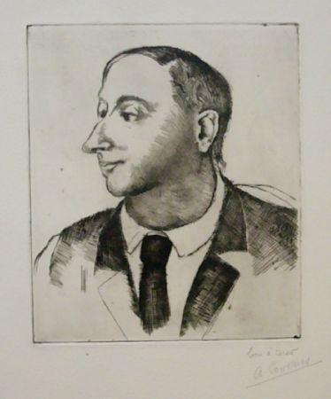 Офорт Courmes - Portrait de Jean Briance