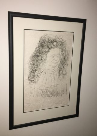 Офорт И Аквитанта Dali - Portrait De La Fontaine