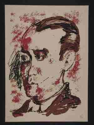 Сериграфия Lüpertz - Portrait de Lorca