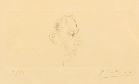 Гравюра Сухой Иглой Picasso - Portrait de Marcel Boudin