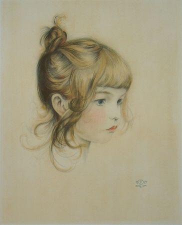 Литография Sauer - Portrait de Nicole