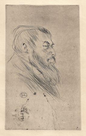 Гравюра Сухой Иглой Toulouse-Lautrec - Portrait de Tristan Bernard