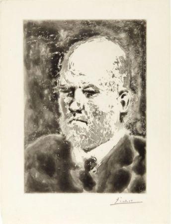 Акватинта Picasso - Portrait de Vollard I
