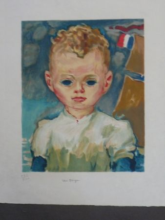 Литография Van Dongen - Portrait d'enfant