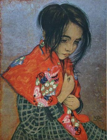 Гравюра Sauer - Portrait d'enfant