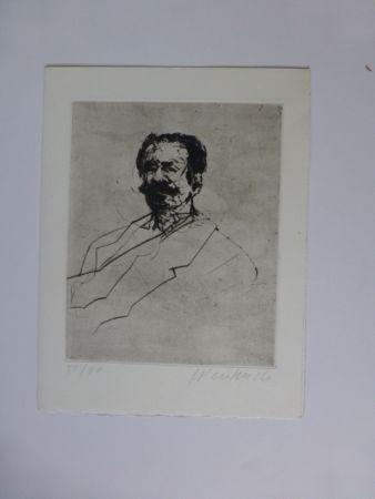 Гравюра Weisbuch - Portrait D'homme