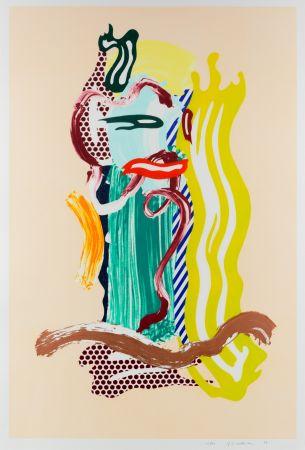 Многоэкземплярное Произведение Lichtenstein - Portrait, From Brushstroke Figures Series