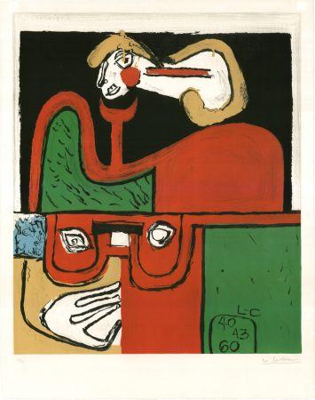 Литография Le Corbusier - Portrait (hand-signed, numbered)