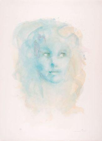 Литография Fini - Portrait imaginaire bleu
