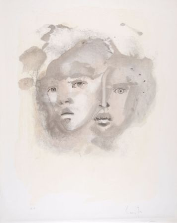 Литография Fini - Portrait imaginaire brun