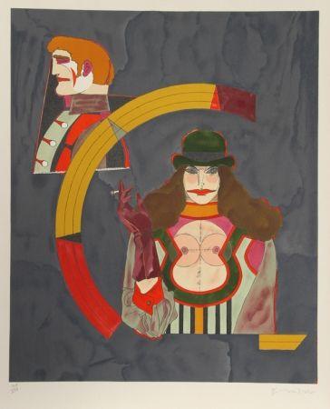 Литография Lindner - Portrait No. 2 from the