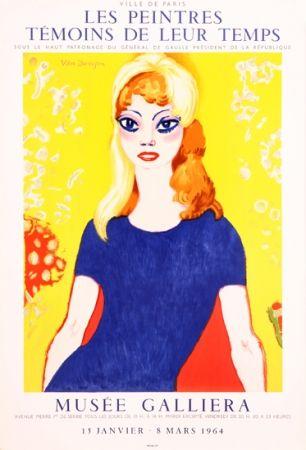 Литография Van Dongen -  Portrait of Brigitte Bardot, Musée Galliera