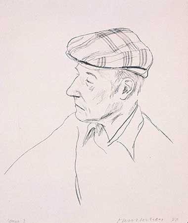 Литография Hockney - PORTRAIT OF BURROUGHS