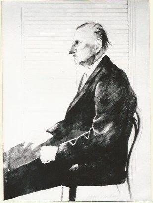 Литография Hockney - Portrait of Felix Mann