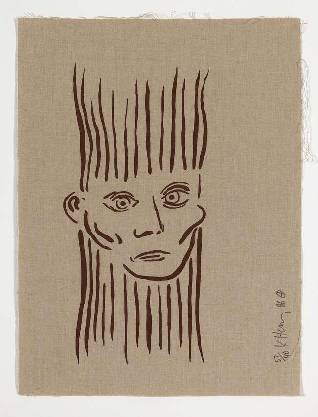 Сериграфия Haring -  Portrait of Joseph Beuys