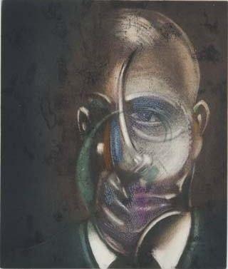 Офорт И Аквитанта Bacon - Portrait of Michel Leiris