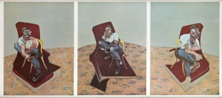 Литография Bacon - Portrait von Lucien Freud