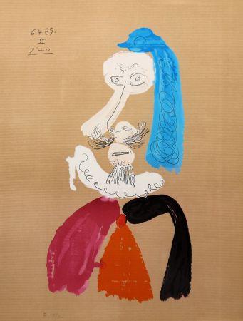 Литография Picasso - Portraits Imaginaires 6.4.69 II