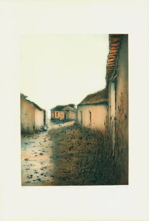 Офорт И Аквитанта Gortner - Portugiesische Dorfstrasse