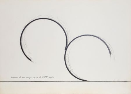 Сериграфия Venet - Position of Two Major Arcs of 257.5 Degrees Each
