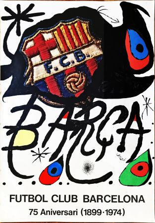 Нет Никаких Технических Miró -  Poster for the 75th Anniversary of the Barcelona Football Club