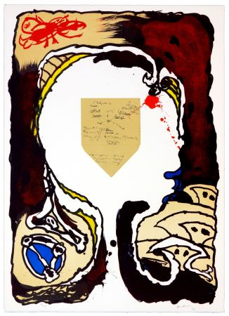 Литография Alechinsky - Pour Jorn