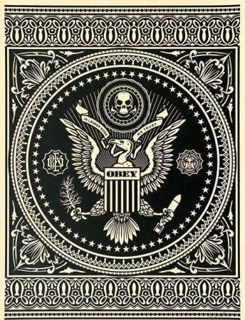 Сериграфия Fairey - Presidential Seal Black