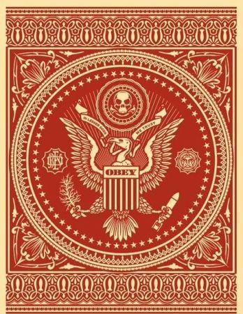 Сериграфия Fairey - Presidential Seal Red