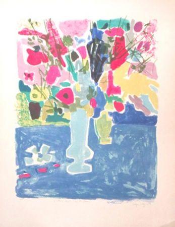 Литография Bezombes - Printemps sous le signe des fleurs