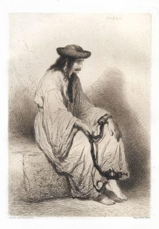 Гравюра Valério - Prisonnier hongrois (Hungarian Prisoner)
