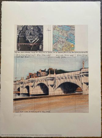 Литография Christo - Project pour Pont Neuf, Wrapped