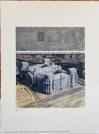 Литография Christo - Project pour Reichstag Wrapped