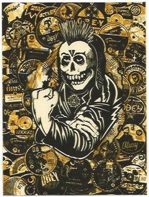 Сериграфия Fairey - Psycho Posse Gold