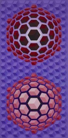 Многоэкземплярное Произведение Vasarely - Purple long