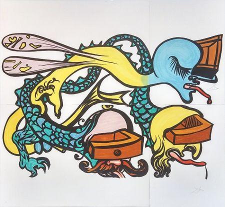Литография Dali - PUZZLE OF LIFE (IDRA A TRE TESTE)