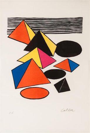 Литография Calder - Pyramids And Circles