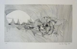 Гравюра Berge - Quadrige