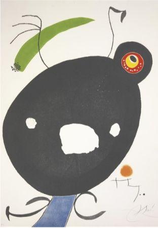 Офорт И Аквитанта Miró - Quatre Colors Aparien El Món, Plate Ii