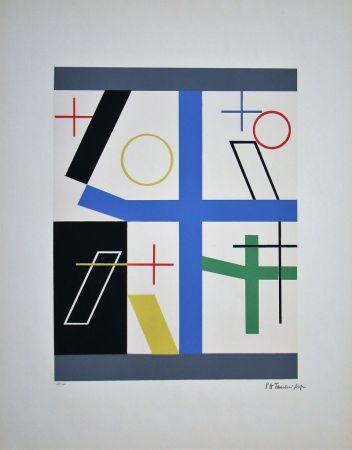 Сериграфия Taeuber-Arp - Quatre espaces à croix brisée