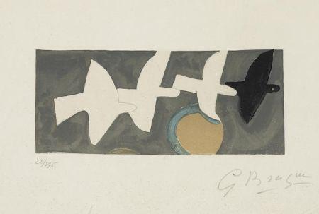Литография Braque - Quatre Oiseaux