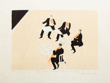 Литография Brasilier - Quatuor