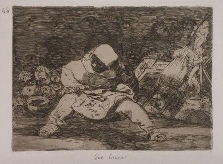 Гравюра Goya - QUE LOCURA!