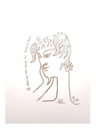 Литография Cocteau - Réflexions
