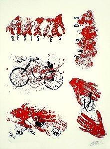 Литография Arman - Résister Colère