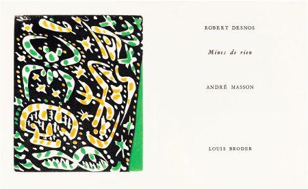 Иллюстрированная Книга Masson - R. Desnos: MINES DE RIEN. 4 gravures originales en couleurs (1957).