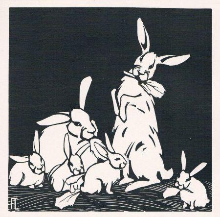 Гравюра На Дереве Lang - Rabbits