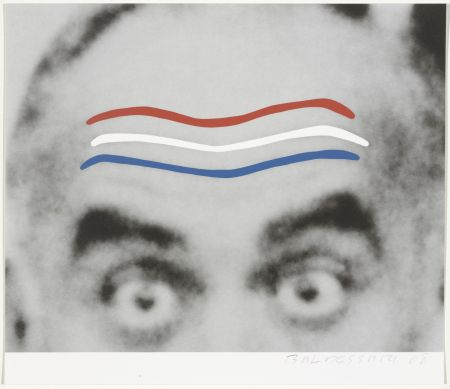 Сериграфия Baldessari - Raised Eyebrows/Furrowed Foreheads (Red, White, and Blue) from Artists for Obama