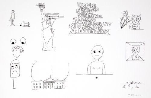 Литография Breuning  - Random thoughts about life 1