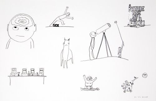 Литография Breuning  - Random thoughts about life 2